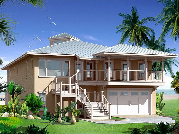 Beach Home Plan, 052H-0011