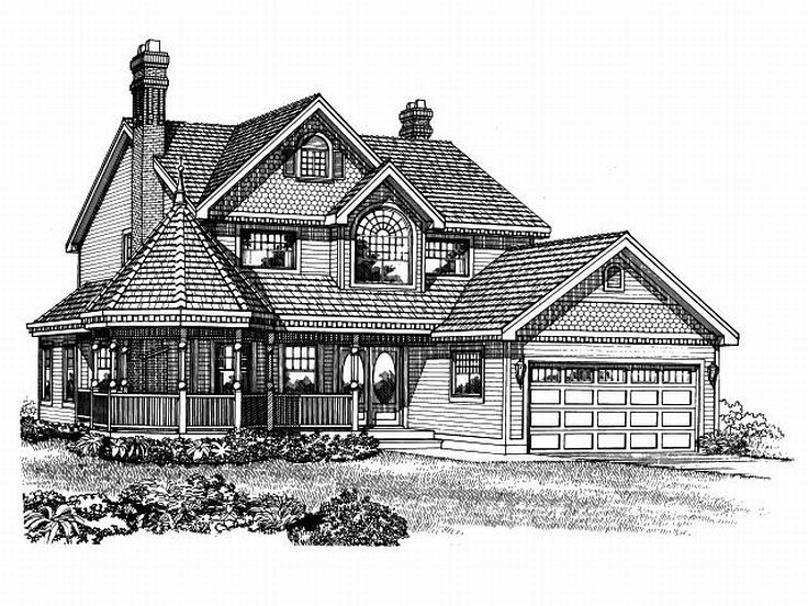 Victorian House Plan, 032H-0040