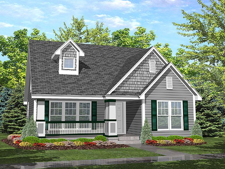 Bungalow House Plan, 016H-0009