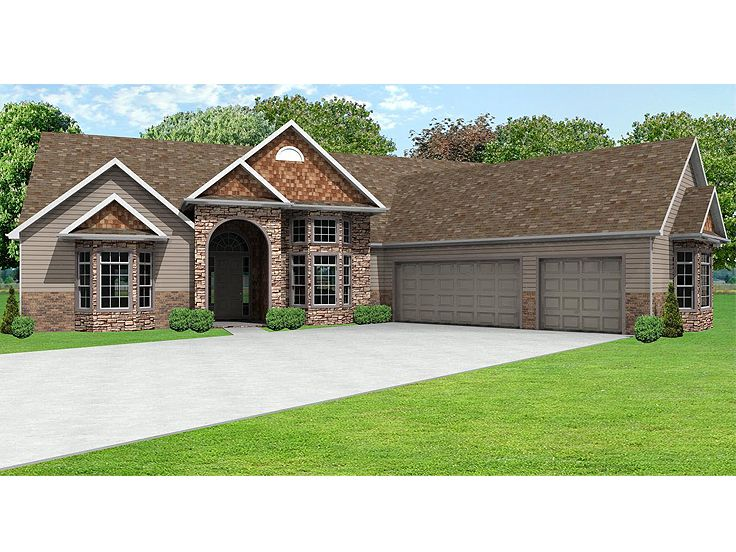 European House Plan, 048H-0002