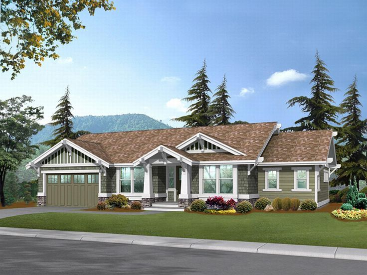 Craftsman House Plan, 035H-0044