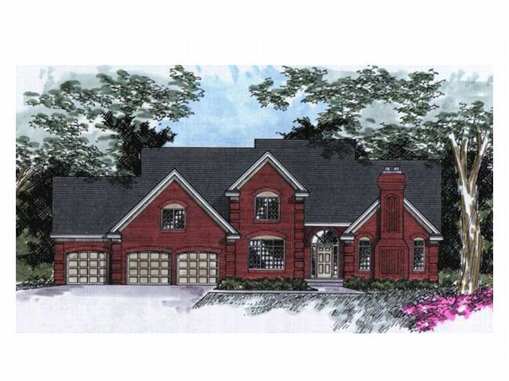 Two-Story Home Plan, 023H-0033