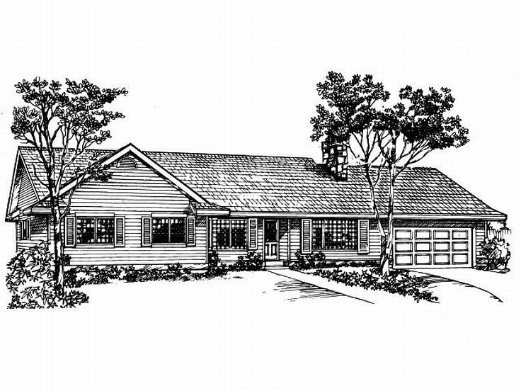 Ranch Home Plan, 032H-0014