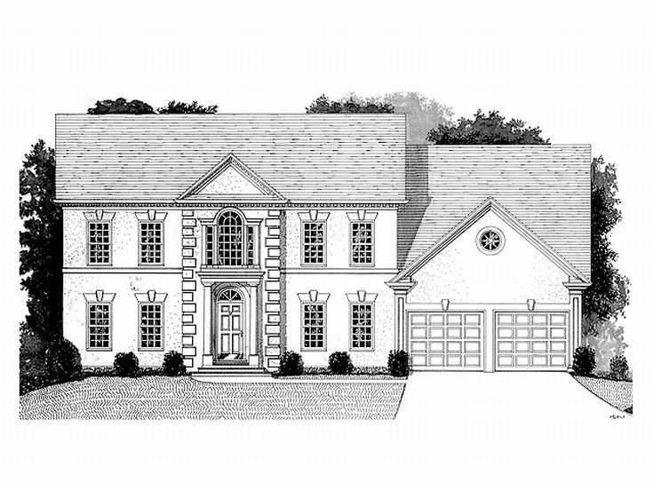Two-Story House Plan, 007H-0091