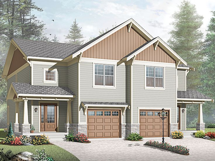 Plan 027m 0046 find unique house plans home plans and Unique duplex plans