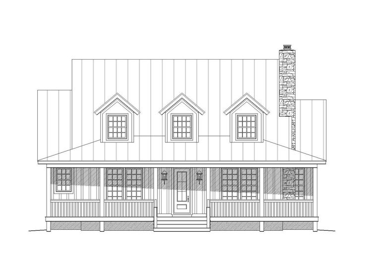Two-Story House Plan, 062H-0031