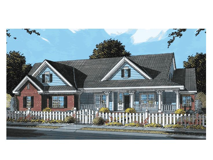 Country Traditional House, 059H-0089