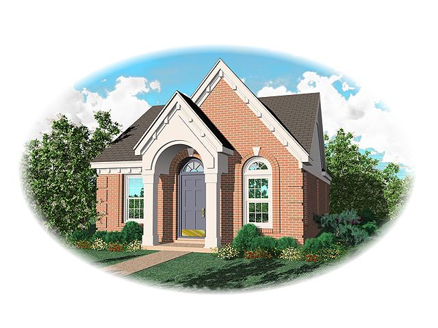 Narrow Lot Home Plan, 006H-0010