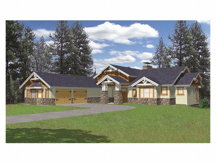 Craftsman Home Plan, 012H-0043
