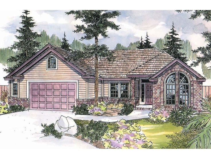Ranch house plans traditional ranch house plan 051h for Traditional ranch house plans