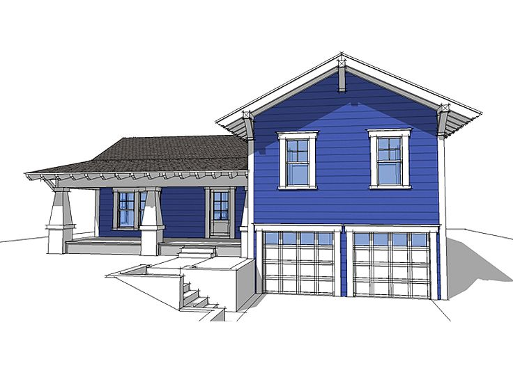 Sloping Lot Home Plan, 052H-0026