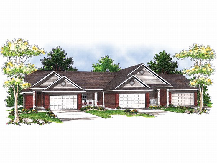Plan 020m 0019 find unique house plans home plans and for Triplex floor plans