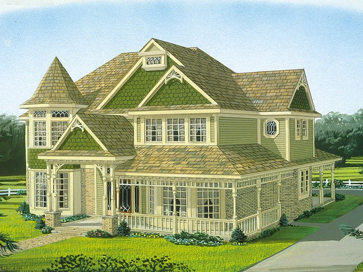 Victorian House Plan, 054H-0132