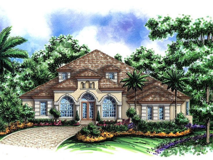 Mediterranean Home Plan, 037H-0155