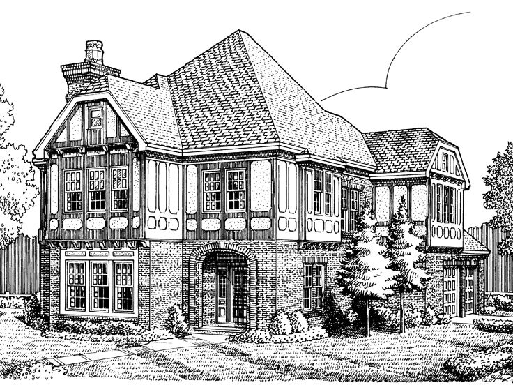 European House Plan, 054H-0016