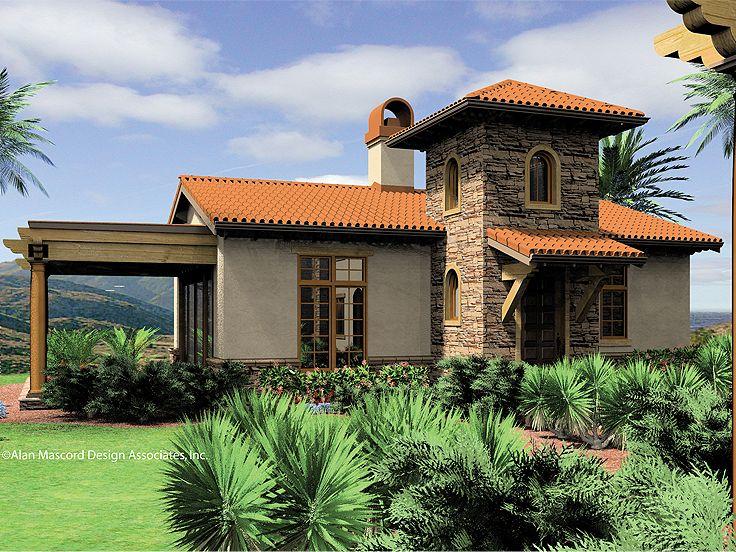 Plan 034h 0070 find unique house plans home plans and for Split mediterranean house