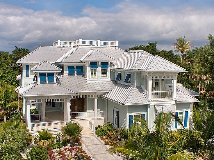 Coastal home plans coastal house plan with olde florida for Elevated key west style house plans