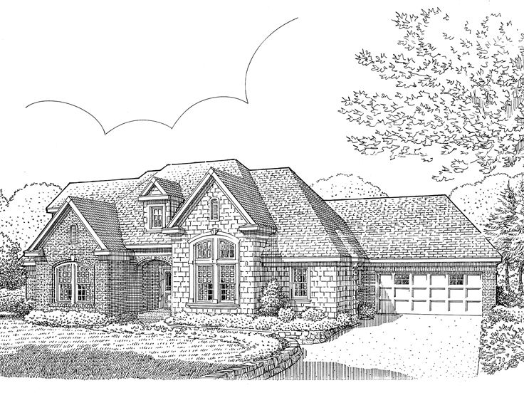 Traditional House Plan, 054H-0094
