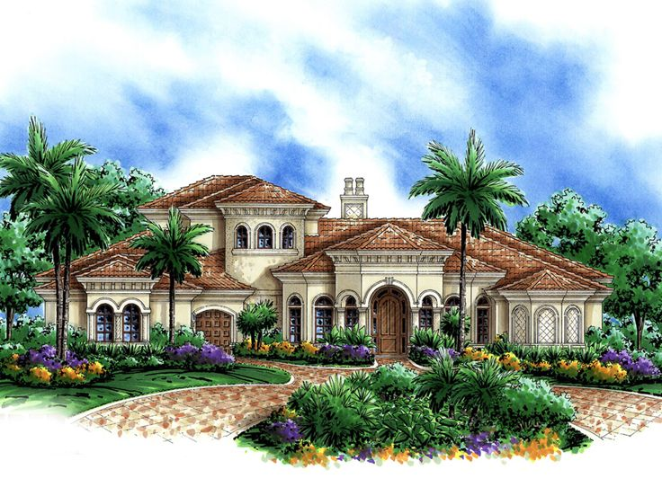 Mediterranean Home Plan, 037H 0050