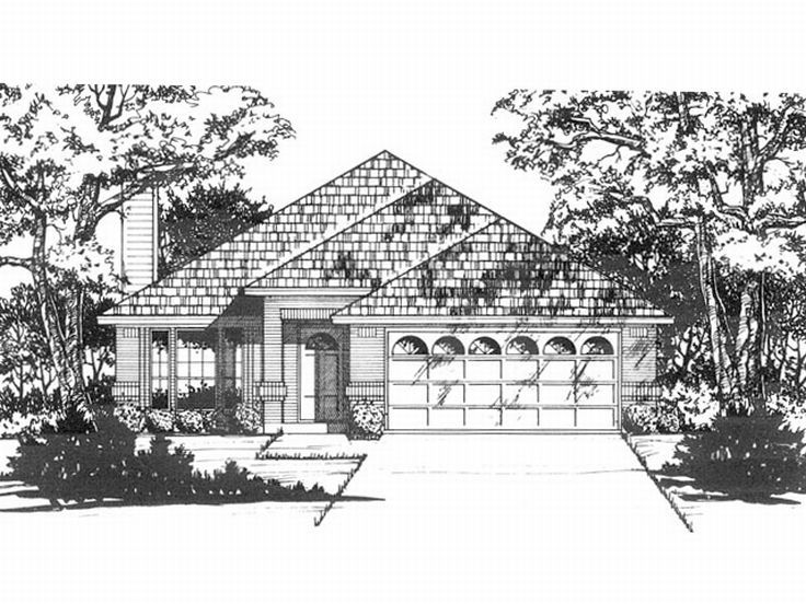 Narrow Lot House Plan, 015H-0025