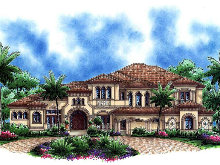 Tuscan home plans premier luxury tuscan house plan for Luxury tuscan house plans