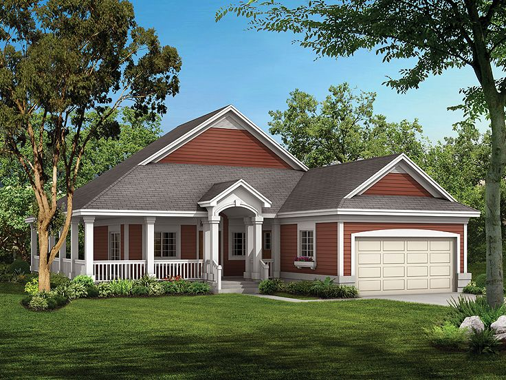 Empty Nester Home Plan, 057H-0036