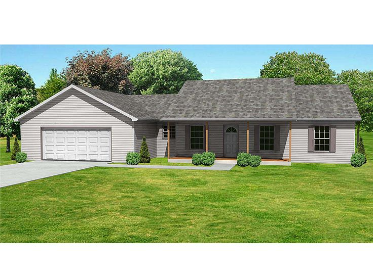 Country Ranch Home Plan, 048H-0012