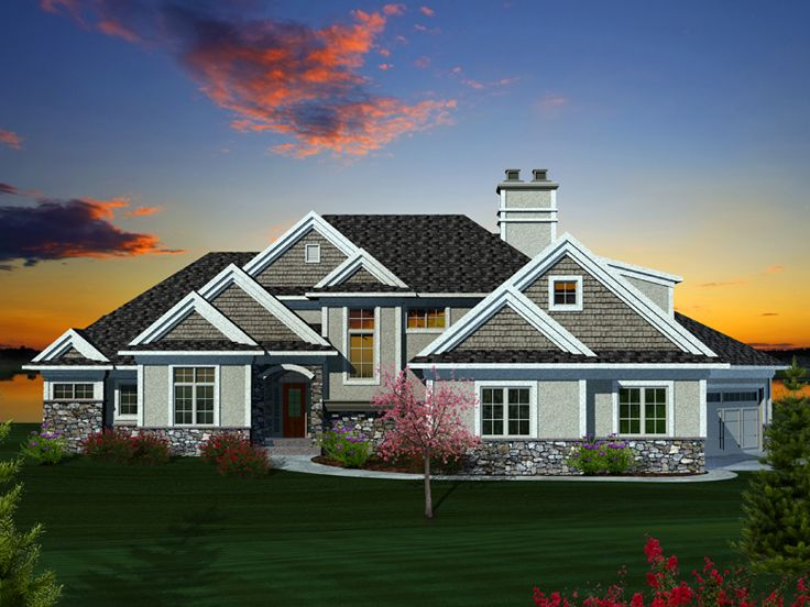 Waterfront house plans premier luxury waterfront home for Waterfront cottage plans