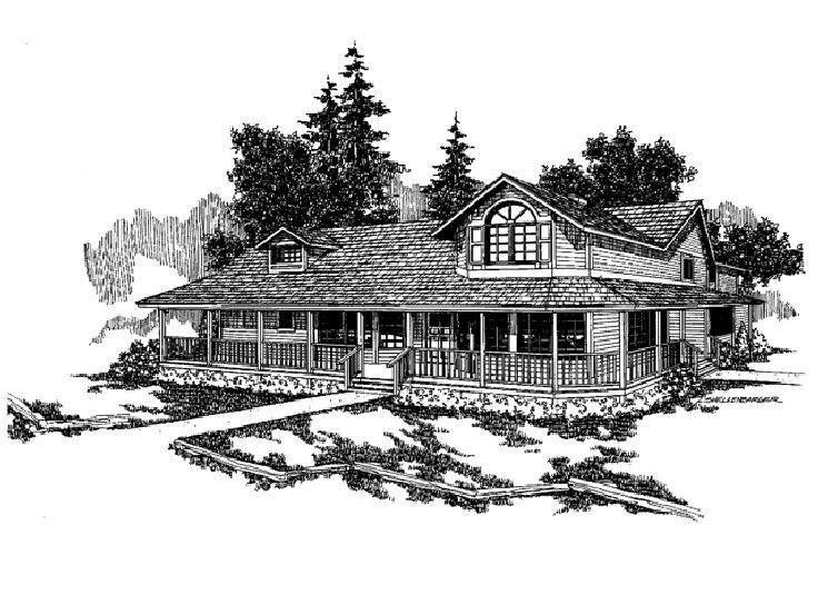 Country Home Plan, 013H-0005
