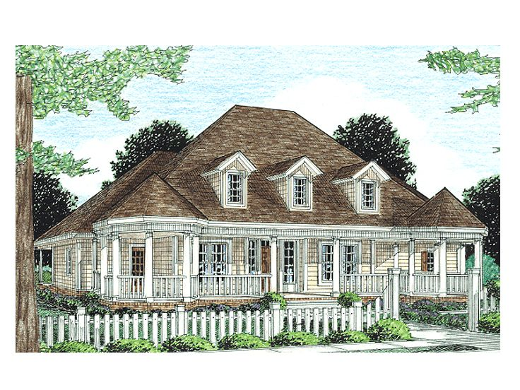 Southern Country Home, 059H-0063