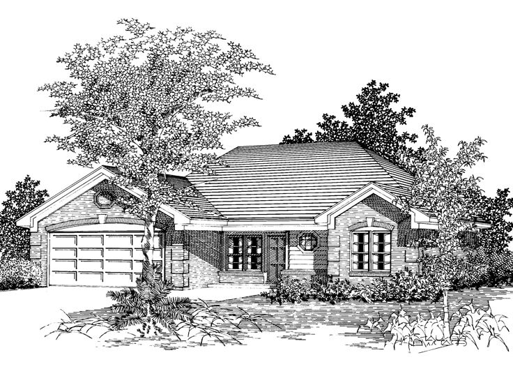 1-Story House Design, 061H-0026