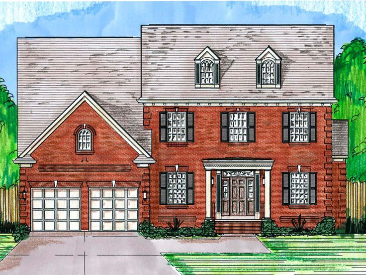 Colonial House Plan, 046H-0095
