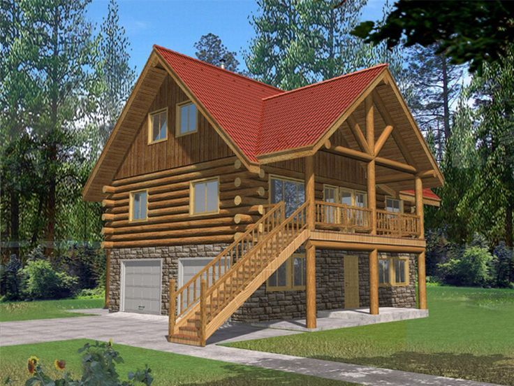 Narrow Lot Log House, 012L-0043