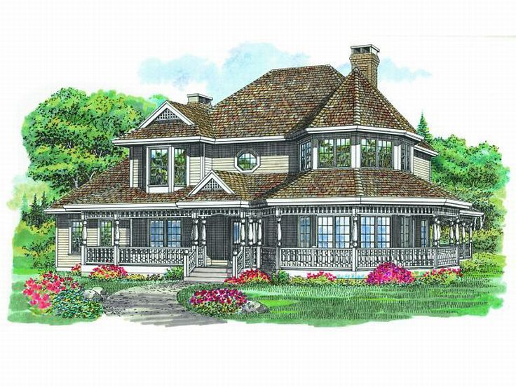 Victorian House Plan, 032H-0027