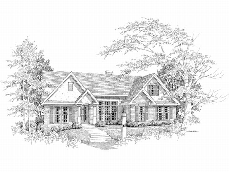 Ranch Home Plan, 019H-0081