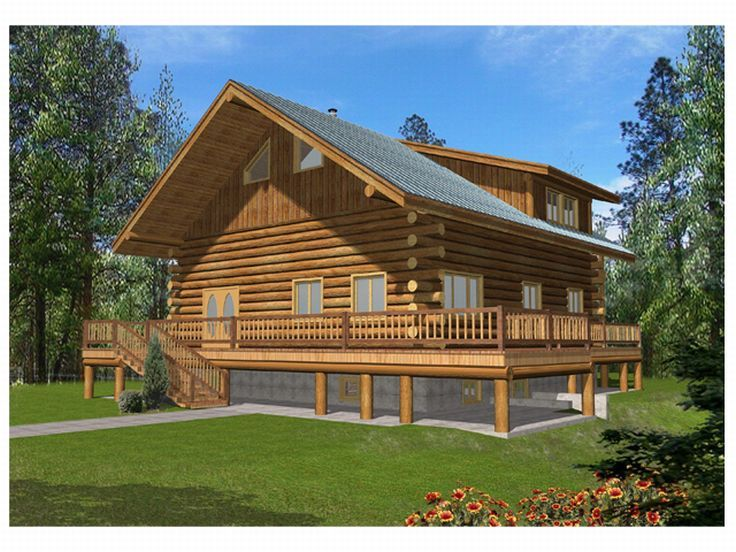Log Home, Front/Right, 012L-0039