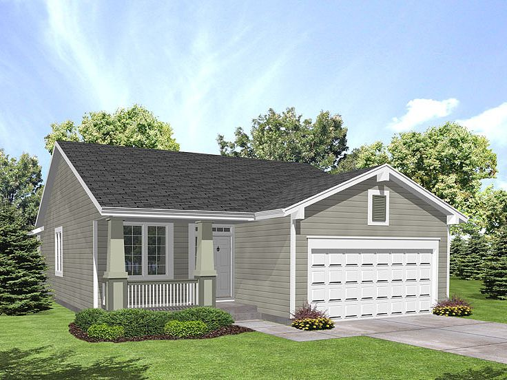 Small Home Plan, 016H-0036