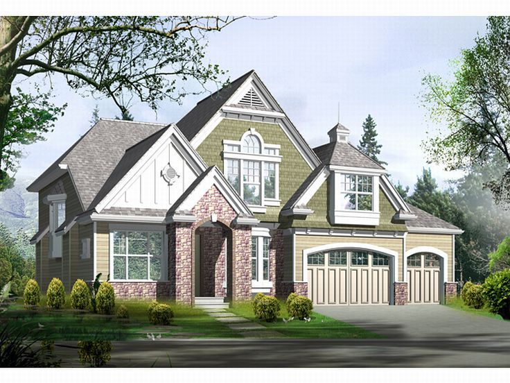 European House Plan, 035H-0023