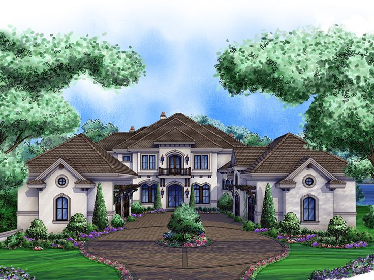Premier Luxury Home Plan, 037H-0199