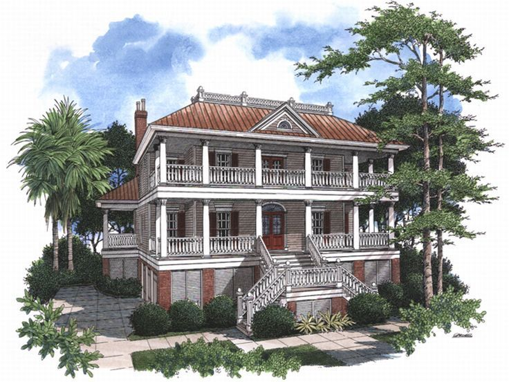 Charleston House Plan, 017H-0027