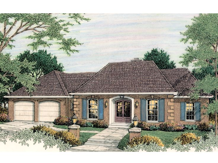 Sunbelt House Plan, 042H-0036