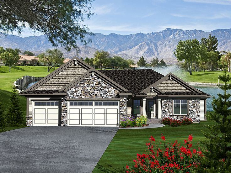 Ranch House Plans Craftsman Ranch Home Plan for Family Living