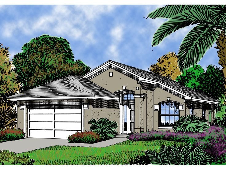 Narrow Lot Home Plan, 043H-0007