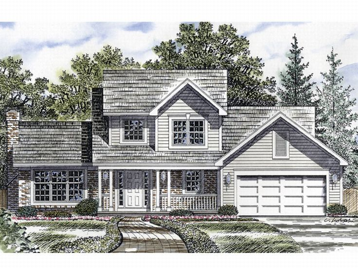 Traditional Home Plan, 014H-0036
