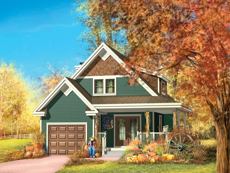 Small Country House Plan, 072H-0129