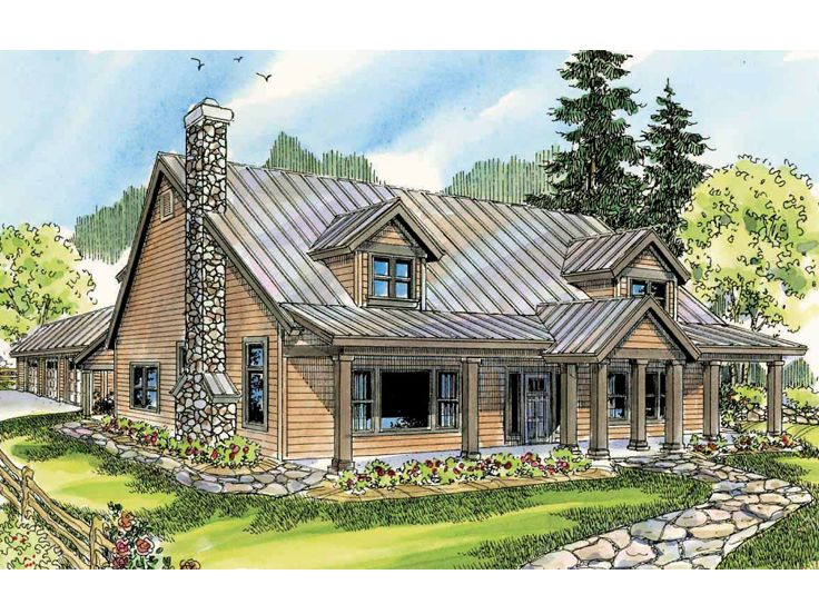 Country House Plan, 051H-0167