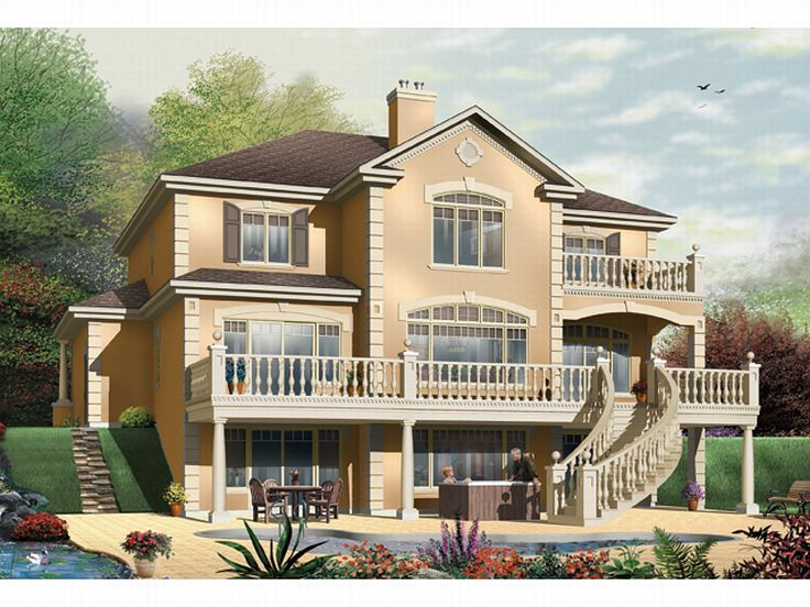 Mediterranean Home, Rear, 027H-0089