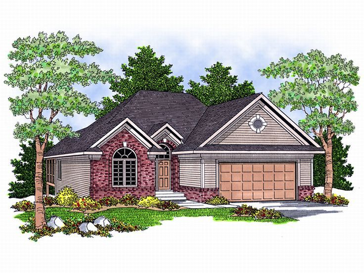 Traditional House Design, 020H-0099