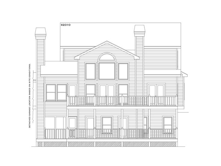 Mountain house plans 2 story mountain home plan with for Mountain house plans rear view