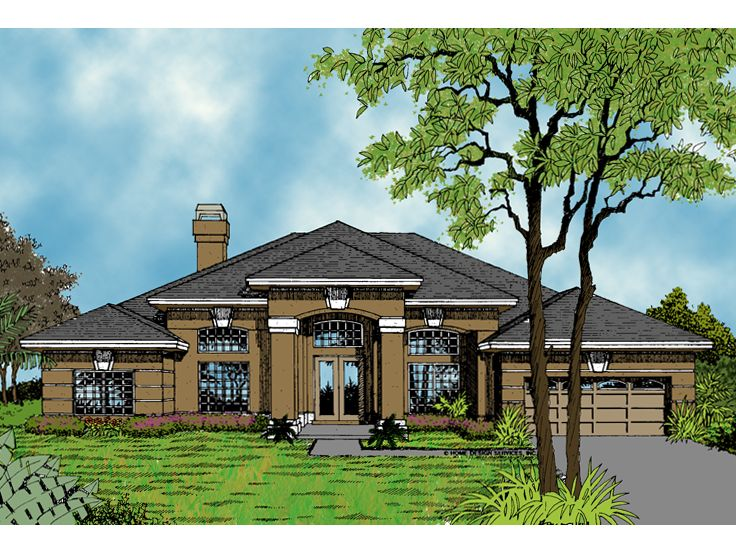 Sunbelt House Plan, 043H-0126